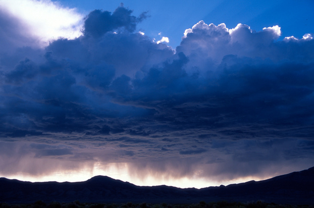 Summer thunderstorms often form over the mountains